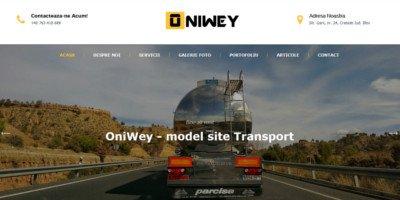 Site la cheie firma de transport / logistica