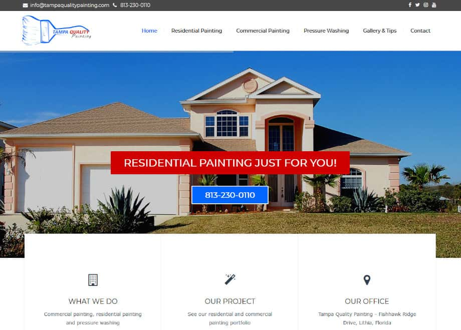Residential and commercial painting in Florida - tampaqualitypainting.com